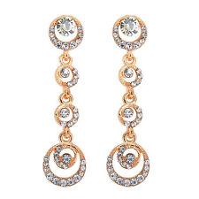 Women Gold/Silver Crystal Rhinestone Drop Stud Dangle Earrings