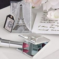 60 Silver Eiffel Tower Compact Wedding, Showers, Birthday Party Gift Favors