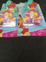 Lot of 2 Little Mermaid Tangled Ariel Rapunzel Magnetic Clips Fridge Magnets New