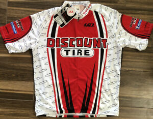 Discount Tire Louis Garneau Cycling Jersey Mens XXL - NEW NWT White/Red/Black B