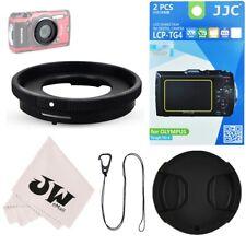 5in1 Kit Lens Adapter+Screen Protector+ Lens Cap fr Olympus TG-6 TG-5 TG-4 TG-3