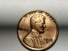 1936-D Lincoln Wheat Penny, AU Details, Hard to Find Date, Free Shipping
