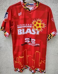 NEW/NWOT Baltimore Blast Soccer Lucas Roque Red Jersey Shirt - Men's Small