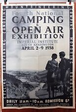 CAMPING AND OPEN AIR original 1938 exhibition poster