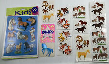 Lot Of Vintage Horse Scrapbooking Stickers Sandylion, Hambly, Oilies, 1985 Pack