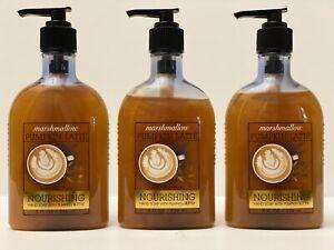 3 Bath & Body Works MARSHMALLOW PUMPKIN LATTE Nourishing Hand Soap 8oz fl new