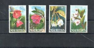 Stamps of Mauritius  Mail Yvert 1009/12 MNH Flowers set