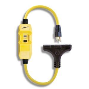 Southwire - Shockshield GFCI Protected Right Angle Plug Tri-Cord