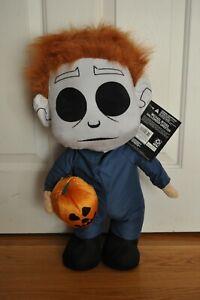 "Halloween Michael Myers & Jack O' Lantern Plush 20"" Stand Up Door Greeter New"