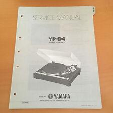 Yamaha YP-D4 Turntable Service / Repair Manual - Factory Original