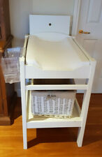 Baby Change Table - Timber professionally built, white in colour