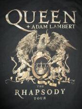 """2019 Queen + Adam Lambert """"The Rhapsody"""" Concert Tour (Lg) T-Shirt Brian May"""