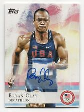 2012 Topps USA Olympic Team Autograph #19 Bryan Clay Track and Field Decathlon