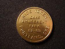 New listing Oaks Amusement Park ride token Portland Or 700o