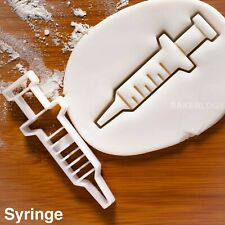 Syringe cookie cutter |nurses day diy gifts for hospital nurse injection biscuit