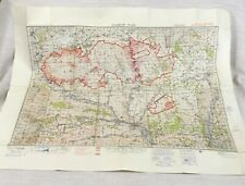 1939 WW2 Military Map of Sailsbury Plain Artillery Range RAF Bombing Zone Chart