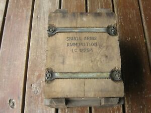 Complete Original Primitive Military Small Arms Ammunition Ammo Wood Box