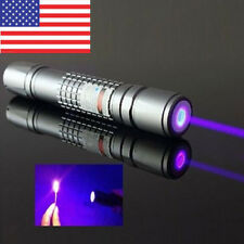 High Power 405nm Laser Pointer Burning Light Beam Pen Battery Charger 5mW