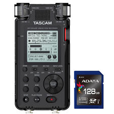 Tascam DR-100 MKIII MK3 Linear PCM Handheld Stereo Recorder + SDXC 128GB Card