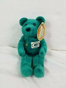 Salvinos Bammers Beanie Babies #4 Brett Favre Green Bay Packers Super Bowl NFL