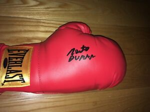 Roberto Duran Signed Everlast Boxing Glove TRISTAR STICKER ONLY