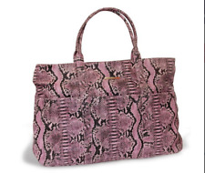 BCBG MAXAZRIA Ladies Pink Faux Snakeskin Large Shoulder/Tote Bag , New