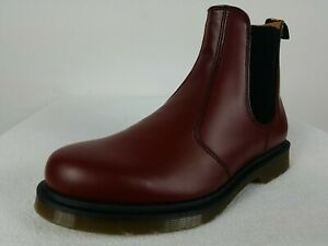 Dr Martens Air Wair 2976 Chelsea Docs Boots Men's 10 Red Polished Smooth Leather