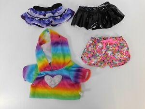 BAB Built a Bear clothing lot 2 skirt rainbow hoodie unicorn shorts accessories