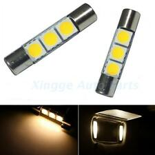 2X warm white 3-SMD 31mm 6641Fuse LED Bulb Make-up Mirror Light Sun Visor Lamps