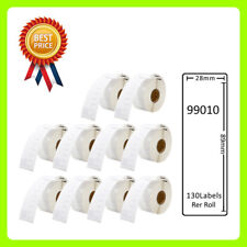 10 Rolls 99010 Labels Compatible for Dymo/Seiko 28 x 89mm 130 labels per roll