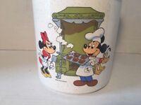 Vintage Minnie Mickey Cookie Jar Treasure Craft Walt Disney Ceramic Canister USA