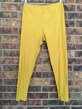 Lularoe TC Tall Curvy Leggings Solid Mustard Yellow No Print Soft