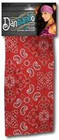 Red Silver Black Paisley Danbando Bandanna Head Wrap Sweatband Headband