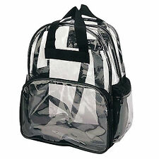 Clear Backpack Transparent Plastic Travel Bag Book Bags Unisex School Plastic
