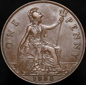 1935 | George V One Penny | Bronze | Coins | KM Coins