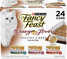 Purina Fancy Feast Gravy Lovers Poultry & Beef Feast Collection Wet Cat Food 24P