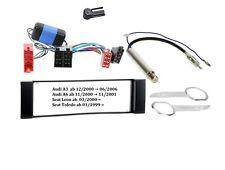 Set Einbaurahmen für Audi A3 A6 Seat Leon Toledo Radioblende + Aktivsystem + Ada