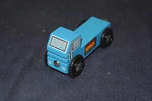 Genuine BRIO Sweden Wooden Railway 33636 Tiny Blue Truck with Flatbed