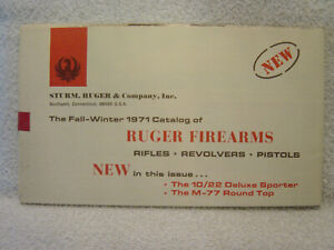 RUGER FIREARMS 1971 fall--winter gun catalog sealed