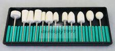 12PCS/SET Dental Lab Burs Kit Popular HP Felt Polishing for LOW SPEED HANDPICE