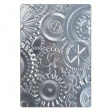 Sizzix 3-D Textured Impressions Embossing Folder Mechanics Tim Holtz Item 662715