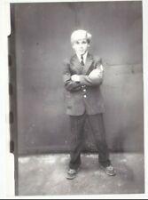 1980s Handsome young teen school boy unusual jock uniform old Ussr Russian photo