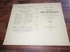 1904.Livre des masques (couverture seule état imprimeur neuf).Remy de Gourmont
