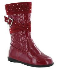 24 Scarpe Stivali rosso per bambine dai 2 ai 16 anni