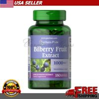 BILBERRY Fruit Extract 1000 mg Vision Eye Health Herbal Supplement 180 Softgels