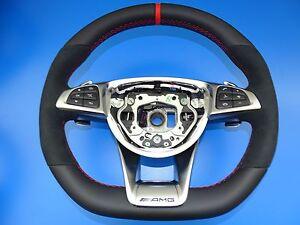 mercedes lenkrad AMG steering wheel mopf performace facelift designo rot w205