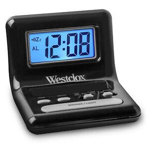 "Westclox 0.8"" Digital Display Snooze Travel Alarm Clock 47538A"