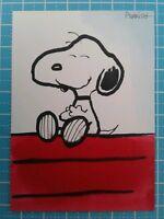 Peanuts Snoopy ORIGINAL COLOR FAN ART Sketch card drawing comic dog cartoon