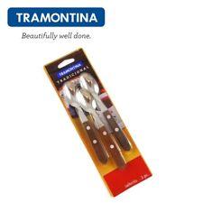 TRAMONTINA ® 3 Stück Teelöffel Kaffeelöffel Desertlöffel Holz Griff 22207300