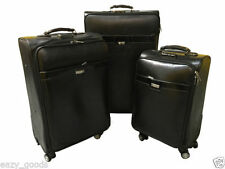 Leather Unisex Adult Spinner (4) Wheels Suitcases